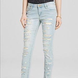 Blank NYC Shredded Skinny Jean in Dreamathon- 25